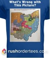 Gerrymandered Ohio on T-shirt